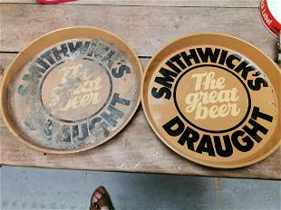 Pair of Smithwick's Draught trays.