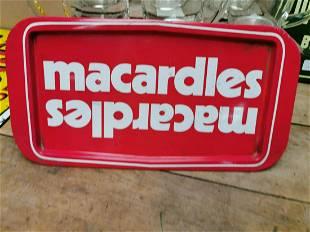Macardles tinplate advertising drinks tray.