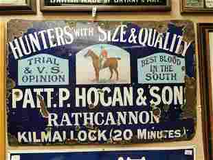 Hunters pictorial advertising sign.