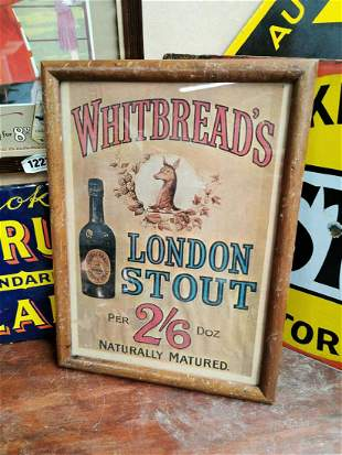 Whitbread's London Stout advertising print.