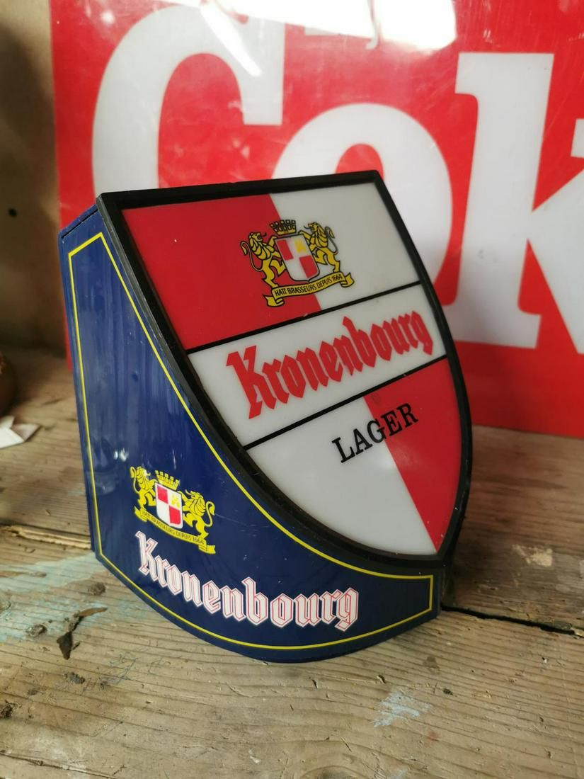 Kronenbourg light up advertising sign.