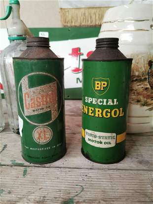 Two 1950s advertising tins.