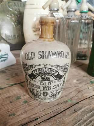Old Shamrock Whiskey advertising flagon.