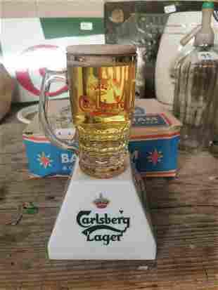 Carlsberg Lager light up advertising sign.