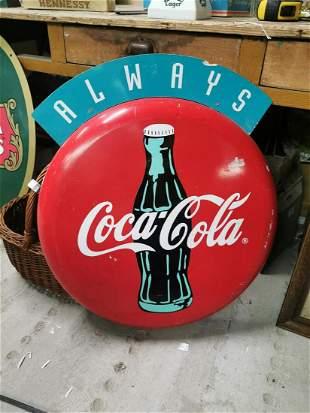 Coca Cola alloy advertising sign.
