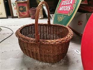 Two wicker baskets.