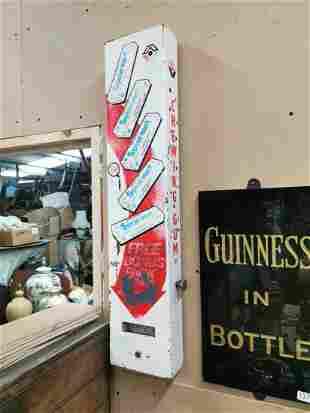 Spearmint chewing gum advertising dispenser.