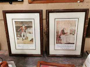 Pair of Dewar's Scotch Whiskey advertising prints.