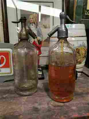Two early 20th C. soda syphons.