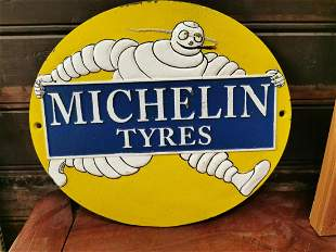 Michelin Tyres cast iron advertising sign.