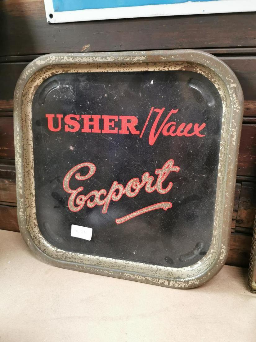 Ushers Export advertising drinks tray.