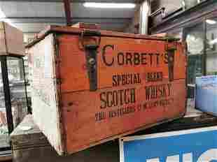 Corbett's Scotch Whisky advertising crate.