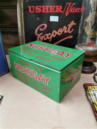 Nose Gay tobacco advertising tin.