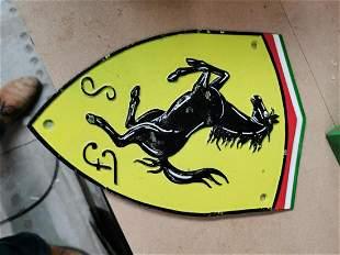 Ferrari cast iron advertising plaque.