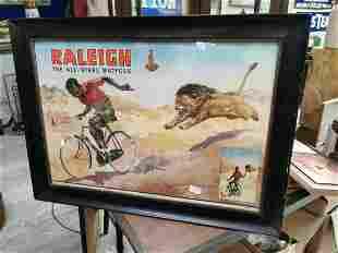 Raleigh advertising showcard.