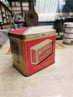 Melrose Tea advertising string tin.