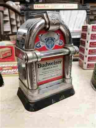Budweiser beer light up advertising sign.