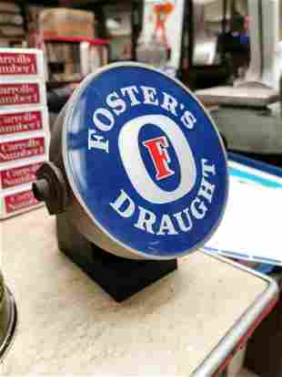 Fosters light up advertising sign.