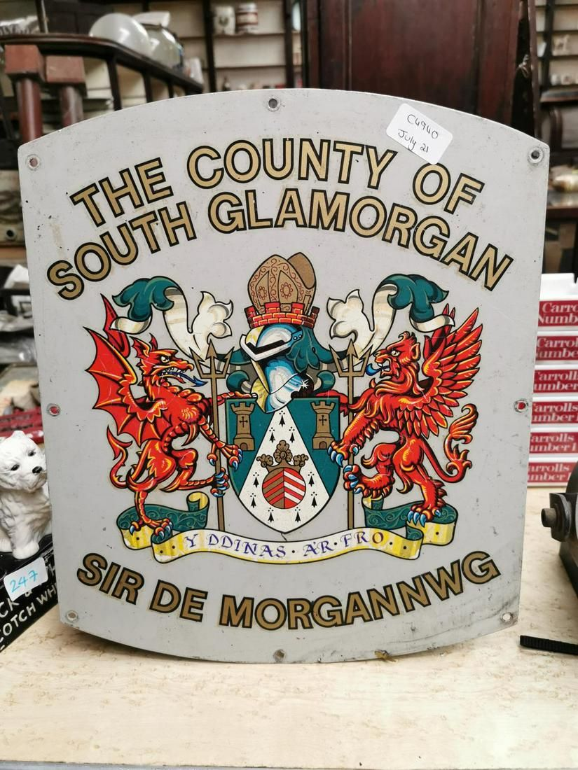 The CC of South Glamorgan advertising sign.