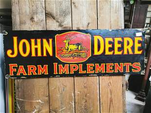 John Deere enamel advertising sign.