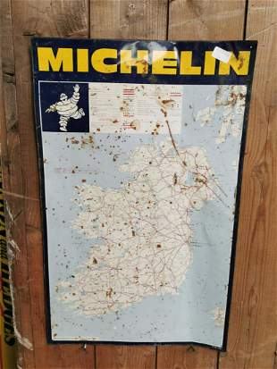 Michelin tin plate advertising sign.