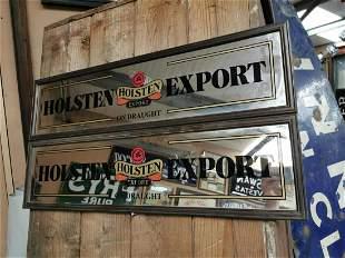 Two Holsten Export advertising mirrors.
