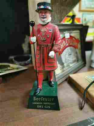 Beefeater London Gin advertising figure.
