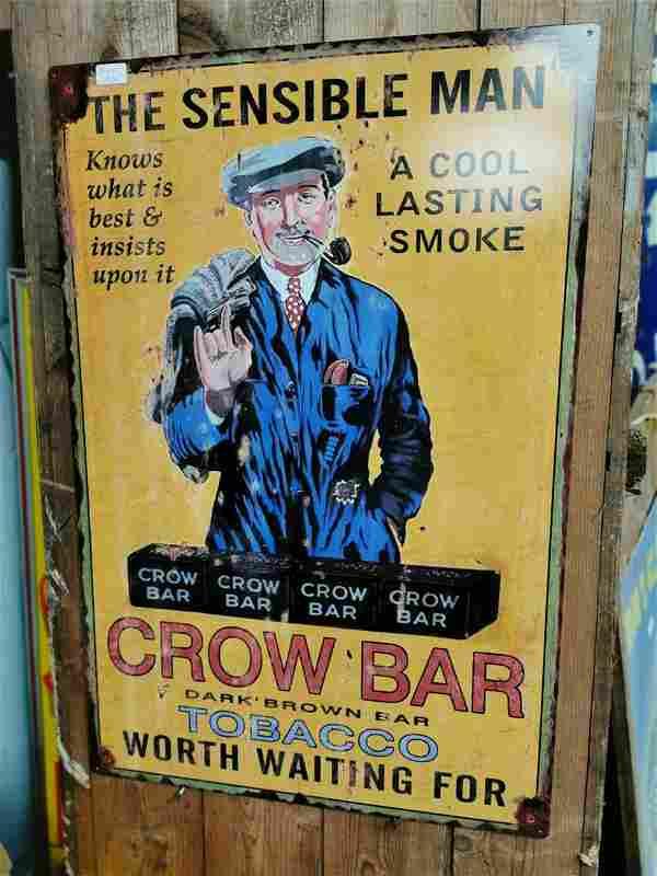 The Sensible Man tobacco advertising sign.