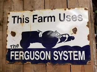 Ferguson System enamel advertising sign.