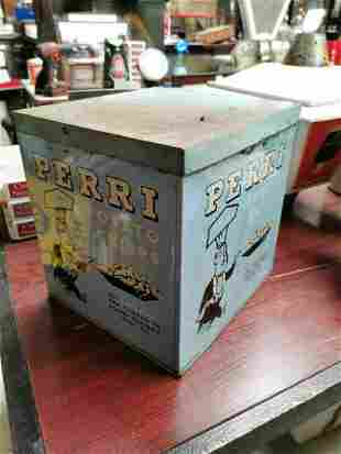 Perri Potato Crisps advertising tin.