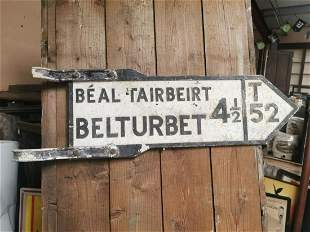 Belturbet double sided road sign.
