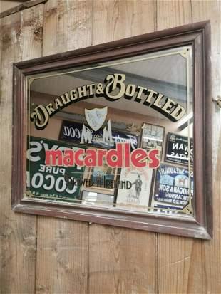 Macardles advertising mirror.