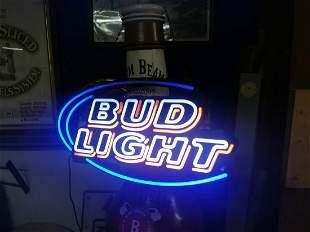 Bud Light NEON advertising sign.