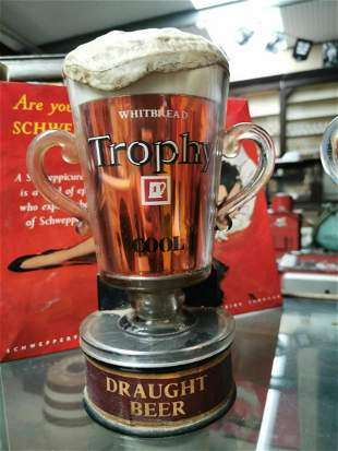 Whitbread Draught Beer advertising tap font.