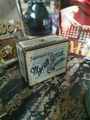 Taddy & Co's Cigarettes advertising tin.