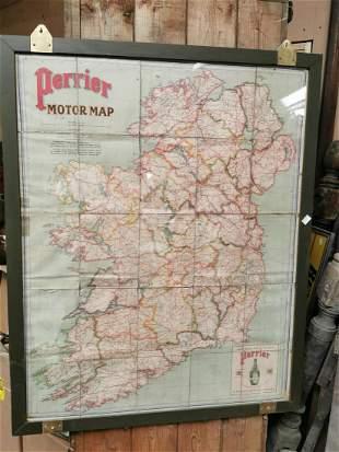 Perrier advertising road map of Ireland.