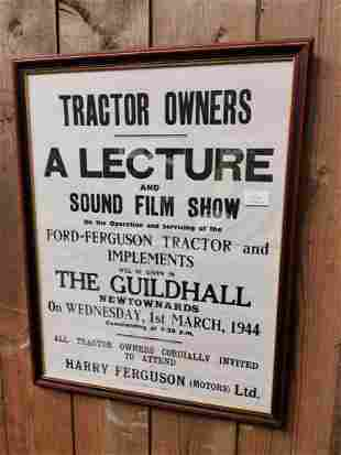 Tractor Owners film advertising poster.