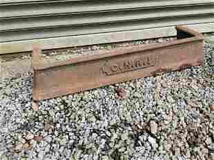Great Northern Railway cast iron fire fender.