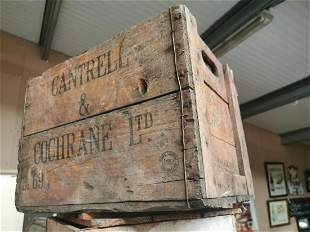 Cantrell & Cochrane Ltd wooden advertising crate