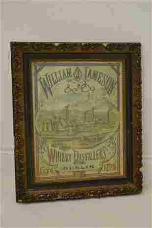 William Jameson & Co Distillers advertising prin.