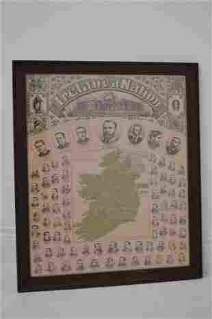 Ireland a nation Parnell's map of Ireland.