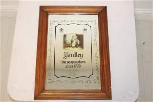 Yardley Fine Soap Makers advertising mirror.