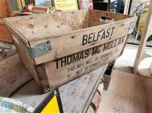 Thomas Mc Mullan Belfast advertising box.