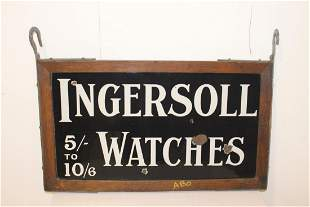 Ingersoll Watches advertising sign.