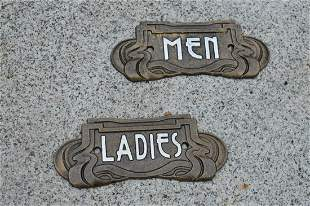 Ladies and Men hand painted plaques.