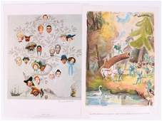 Two Illustrations, Norman Rockwell and Nachum Gutman
