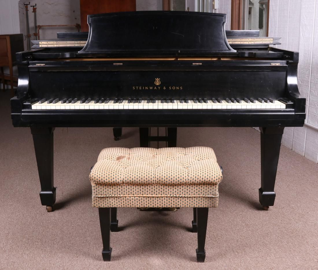 A 1966 Steinway and Sons Model B Grand Piano