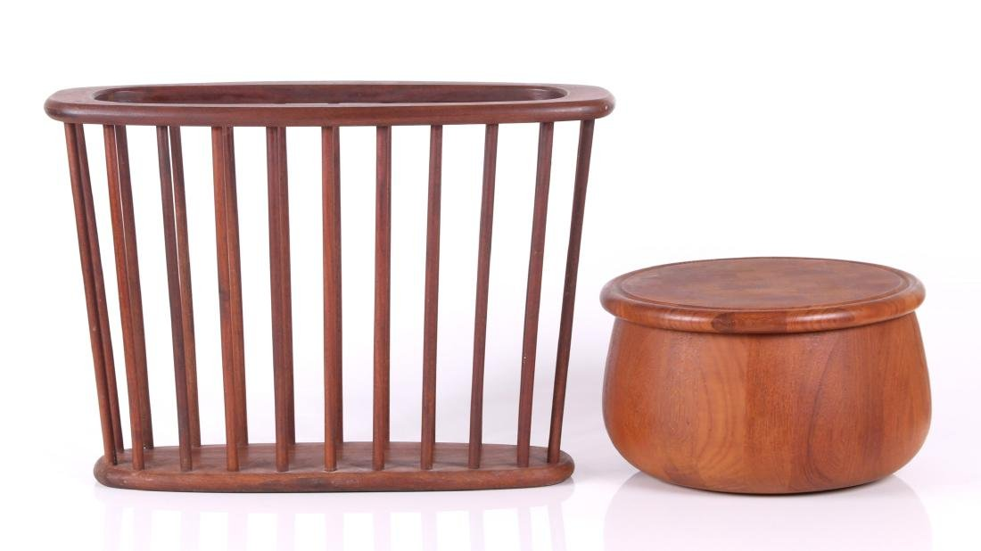 Dansk Salad Bowl, Danish Modern Magazine Rack