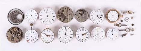 Group of Pocket Watch Parts