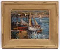 Jane Peterson (1876 - 1965) Oil on Board